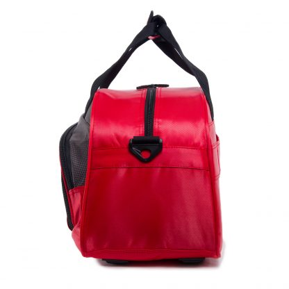 red travel bag