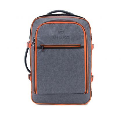 Grey Travel backpack front view