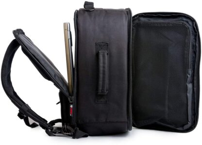 main compartments view Vashka black backpack travel bag